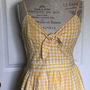 English Factory Dresses - Gingham Pinup Dress Size Large
